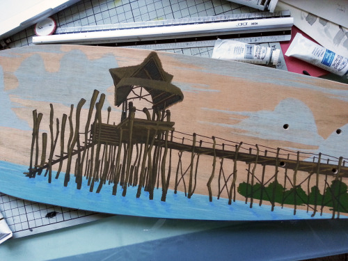 Gouache development of Fundu Pier…