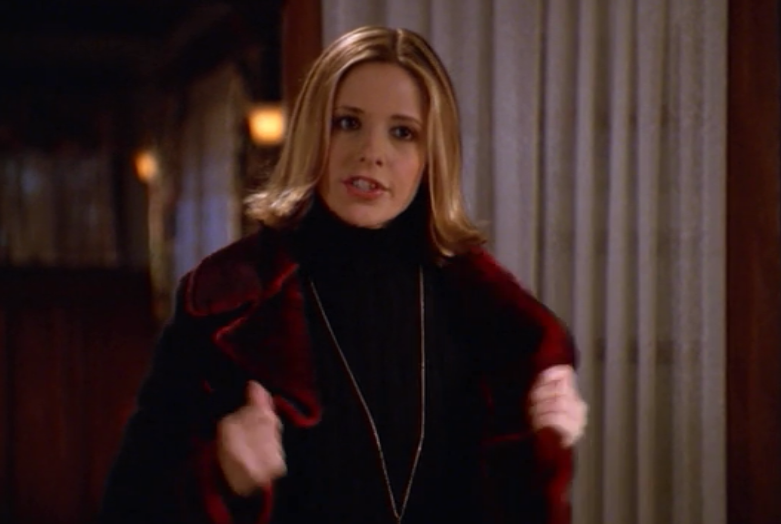 buffyoutfits:  Go back upstairs and rethink your outfit. You look like Shaft.