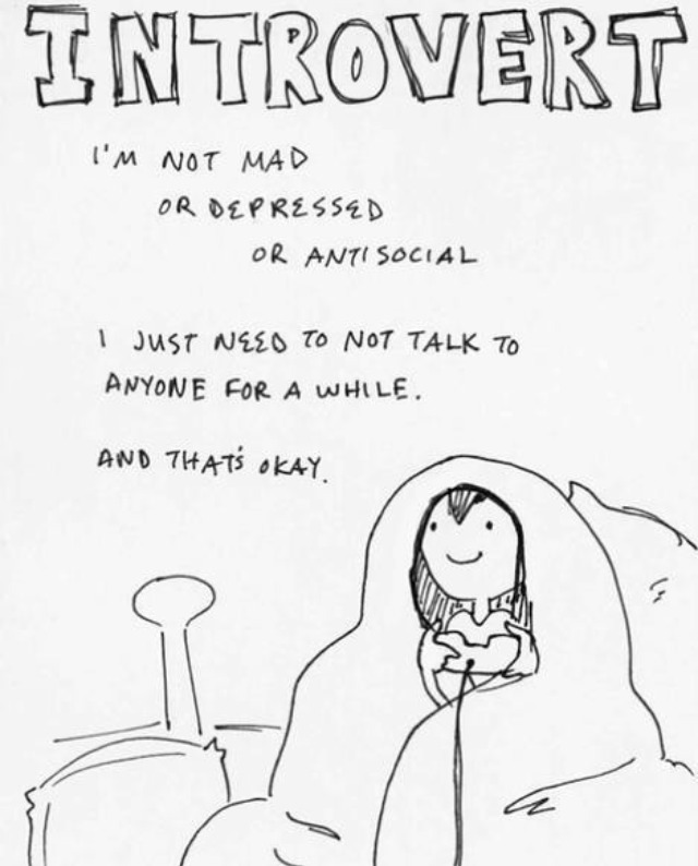 kyoyaxl:  Introvert problems.
