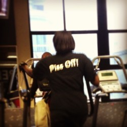 Ladies, THIS is what you wear to the #gym (at 24 Hour Fitness)