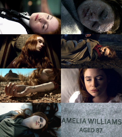 fadedponds:  amy pond + appearing dead (and the one time she actually was)