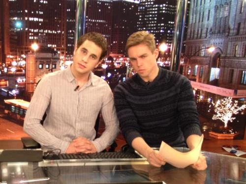 fuckyeahthebookofmormon:    @BenSPLATT: Platt and Rouleau: The Hard-Hitting News Team @nicrolo54 #forserious