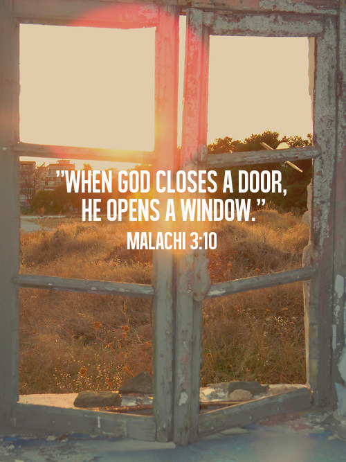 "spiritualinspiration:  ""I will open the windows of heaven for you. I will pour out a blessing so great you won't have enough room to take it in! Try it! Put me to the test!"" (Malachi 3:10)"
