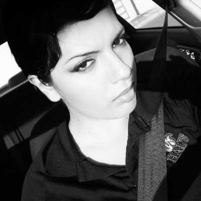 A little on the serious side #black #white #me #makeup #shorthair #work