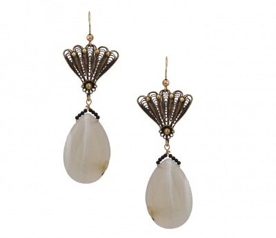 ITEM OF THE DAY: ITEM OF THE DAY: FIONA VINTAGE EARRINGS BY DICHAby Liza Baron http://bit.ly/XeQfJO