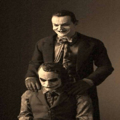 9gag:  J. Nicholson and H. Ledger as Joker.