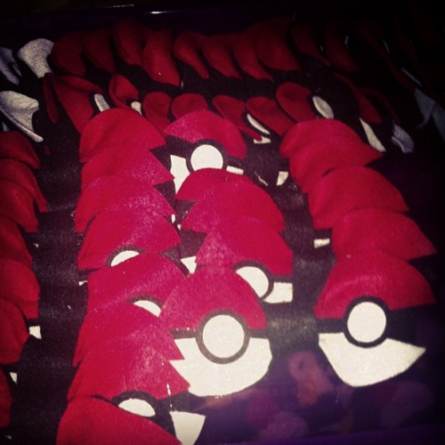 Pokeball bows, all in a row.