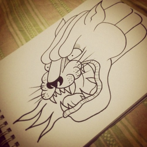 #panther #panthertattoo in progress #design #tattoo #arttattoo #flashtattoo #arttattoo #sharpie