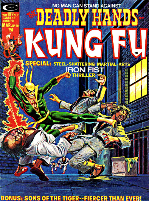 browsethestacks:  Vintage Magazine - Deadly Hands Of Kung Fu #10 (March1975)   I love Iron Fist but his enemies are always so obvious looking