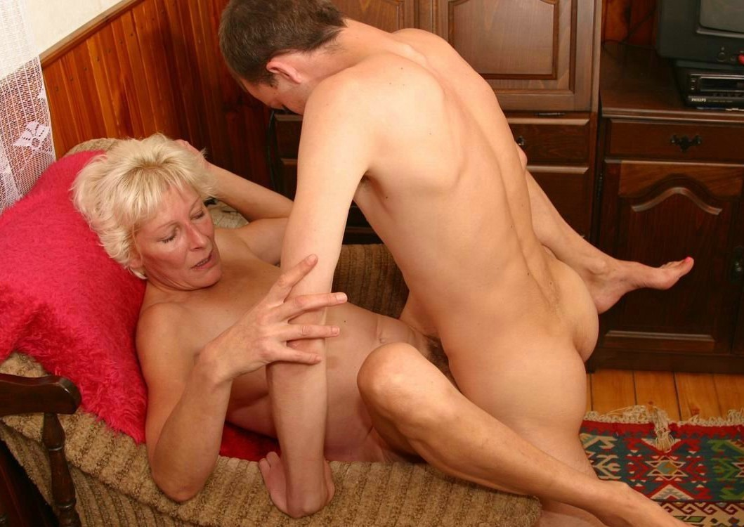 Mature woman seduces younger