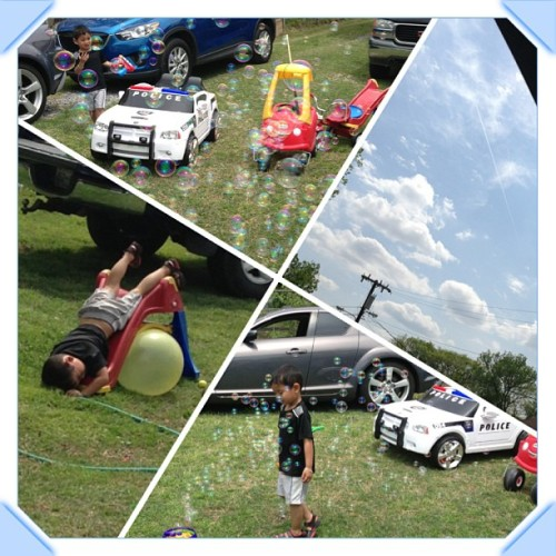Beautiful day out with my boys! @1indachamber #isaacphoun #bubbles #backyardfun #lazybums