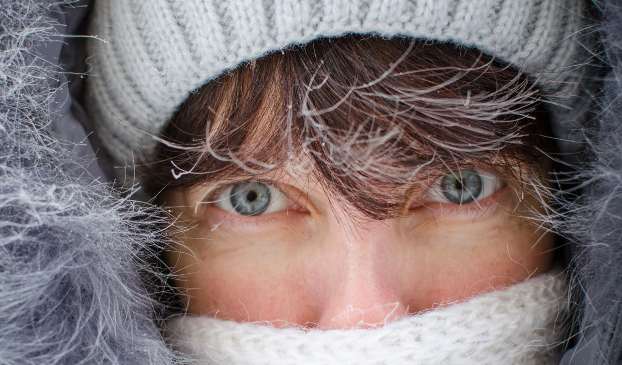 From Wintry Weather, one of 34 photos. Frost covers the tips of a woman's hair as she shields her face while facing the abnormally freezing outdoors in the Siberian city of Novosibirsk, about 2,800 km east of Moscow, on December 14, 2012. The temperatures in Novosibirsk had dropped to -35C (-31F). (Valery Titievsky/AFP/Getty Images)