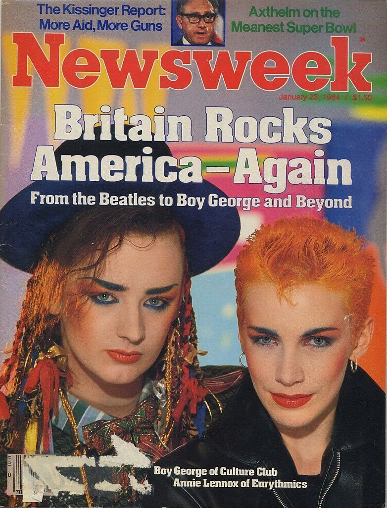 Boy George & Annie Lennox on the cover of Newsweek, 1984