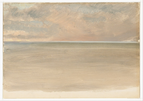 colourthysoul:  Frederic Edwin Church - Seascape with Icecap in the Distance (1859)