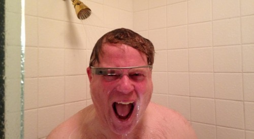 laughingsquid:  Photos of White Men Wearing Google Glass  In a shower??