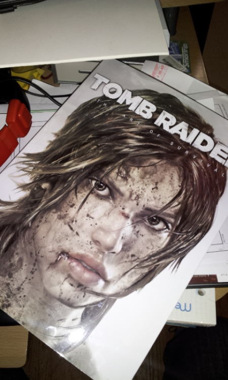Art of Tomb Rider is here! Damn this book is thick (ha-HA) about 270 pages worth of goodness