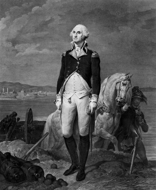 "pbsthisdayinhistory:  April 30, 1789: George Washington Becomes the First President On this day in 1789, George Washington was inaugurated in New York City as the first president of the United States of America. At Federal Hall, New York Chancellor Robert Livingston swore him into office. Washington recited these words from the Constitution: ""I do solemnly swear that I will faithfully execute the office of the President of the United States and will, to the best of my ability, preserve, protect, and defend the Constitution of the United States."" Although it was not in the script, he went ahead and added, ""So help me God."" In every presidential inauguration since then, every president has followed tradition and repeated those same last four words. Celebrate this moment by reading George Washington's inaugural speech. Image: George Washington, full-length portrait, standing on bunker c.1839 (Library of Congress)  And who is holding his horse?"