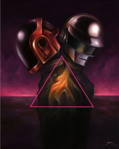 geek-art:  Geek-Art.net : Rediscovery : an artshow tribute to Daft Punk @Gauntlet Gallery Art by Bennett Slater