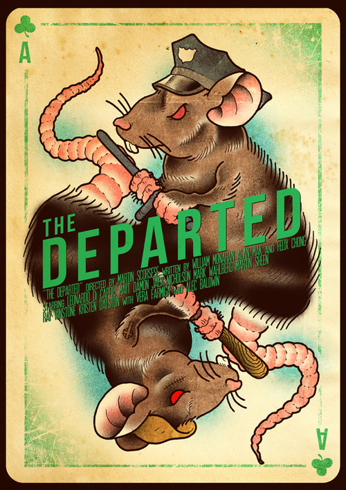 The Departed alternative movie poster designed by  Joel Amat Güell