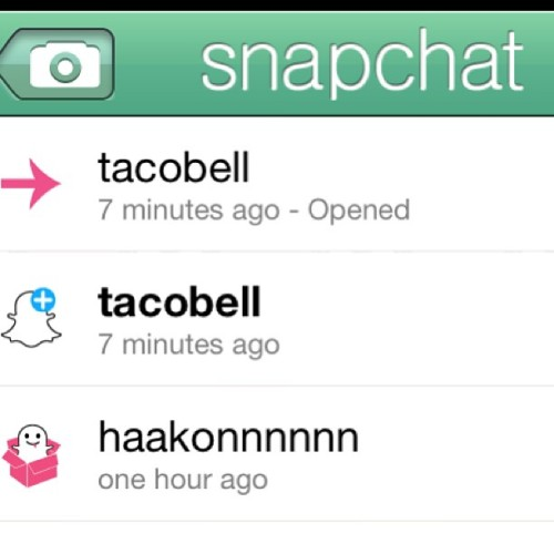 The lvl of excitement I feel about Snapchatting with Taco Bell explains everything you'll ever need to know about me forreal