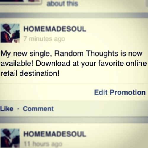 #new #single #random #thoughts #homemade #soul #music #itunes #amazon #album #original #rnb