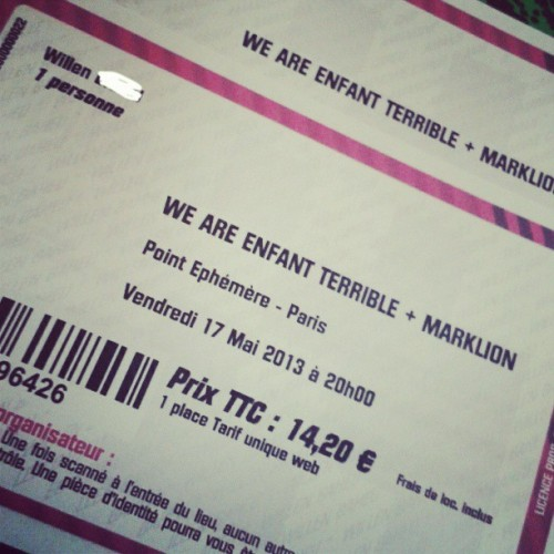 Enfin mes places pour la release party de @waet !!