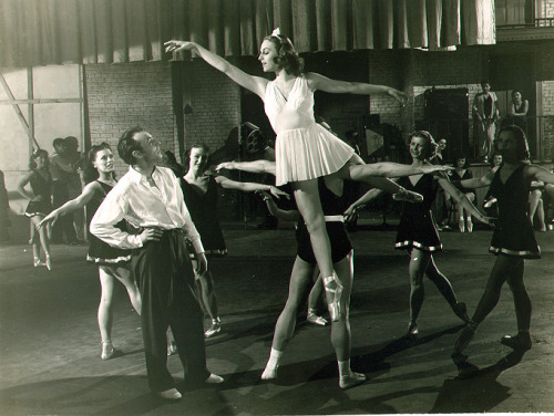 Balanchine Goddess VERA ZORINA in I Was An Adventuress (1940); George Balanchine on left.