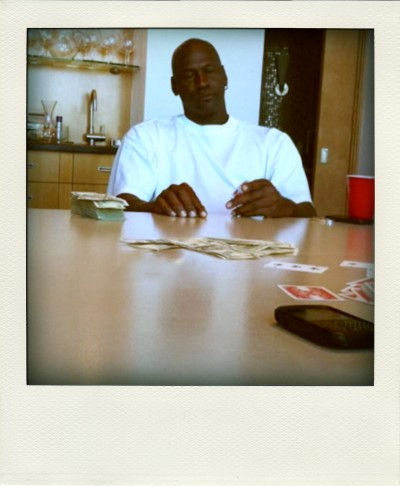 Michael Jordan playing poker