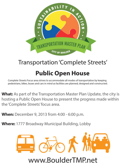 Please Join Us! At the event, attendees will have the opportunity to give feedback on potential Transit Scenarios and Bike Living Laboratory Projects.