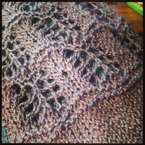Things I make - Shallows Cowl. Pattern found on Ravelry.   This is the lace detail. Super easy, quick knit. Made for my mom for her birthday.