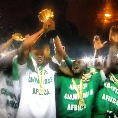 Well done fellas… #Nigeria #Africancupofnations #soccer