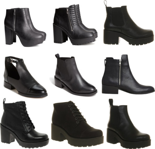Black boots season by ruined-society featuring beatle boots3.1 Phillip Lim black boots / Vagabond black boots / Topshop beatle boots / Vagabond beatle boots, $145 / Vagabond beatle boots, $145 / Topshop black boots / Vagabond black boot