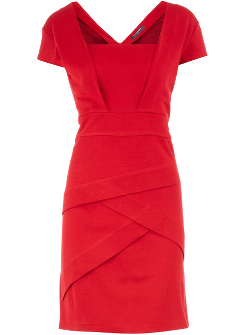 Red Bodycon Layered Dress by Dorothy Perkins