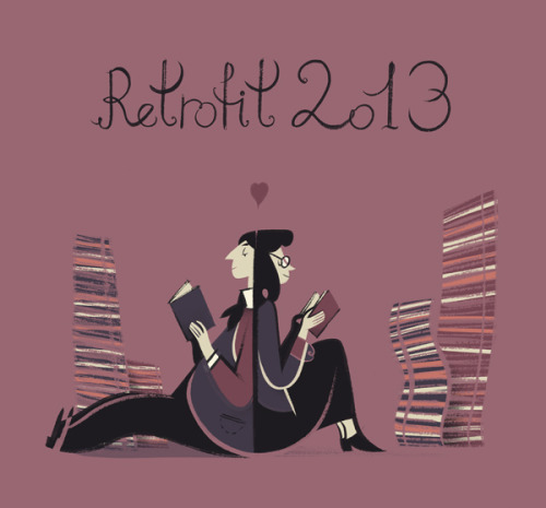 Here's a romantic picture I drew for Box Brown's Retrofit Subscription Drive. Give him money and I'll draw a comic with a scandalous title. Also, boks by Sophia, Ze and other lovely people! Valentine's Day, love is in the air, second best way to get rid of it is by supporting my Yellow Zine 3 Kickstarter. Small update: I won't be printing last year's Calvino collaborations for the supplement, instead it will be a brand new adaptation (probably of If On A Winter's Night A Traveler).