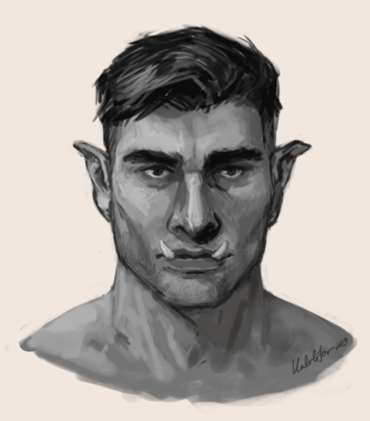 havent had much time for doing digital lately, so here's a really quick messy study of my life cleric Mirko