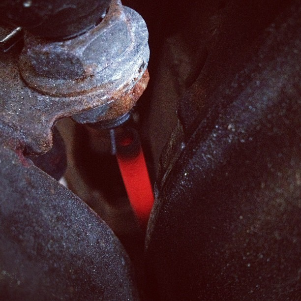 That can't be good. Brake switch was glowing and smoking. #xs650 #fuckit