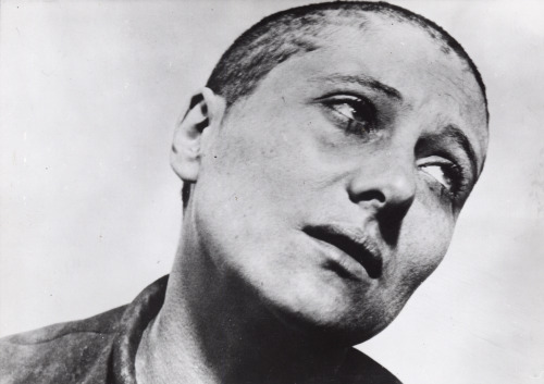 Renée Falconetti as Joan of Arc in The Passion of Joan of Arc (1928), directed by Carl Theodor Dreyer.