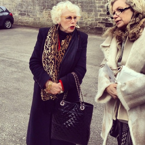 My nana is so #funky #glam #nan #leopard #bleach #blonde #marilyn #jewellery #gold #dress #up #day #out #love #glamarous