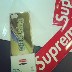 S/o to @supreme for sending me this #iphone case…all love #teamiphone