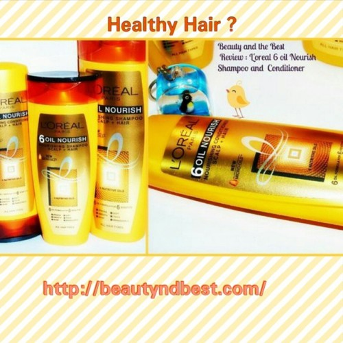 L'Oréal 6 Oils Nourish Shampoo and Conditioner Reviewed on beautyndbest.com. Must read for hair care lovers 😊😄😘  Click on the link in my bio 👧💇👼 #shampoo #conditioner #L'Oréal #bbloggers #beauty_shreya #beautybloggers #blog #girl #girls #love #TagsForLikes #TFLers #me #beautiful #photooftheday #instagood #pretty #follow #followme #hair #instagramers #sweet  #beauty #haircare #Happy  #productreview