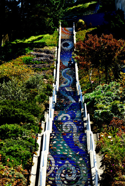 sfcitylights:  16th Avenue Tiled Steps
