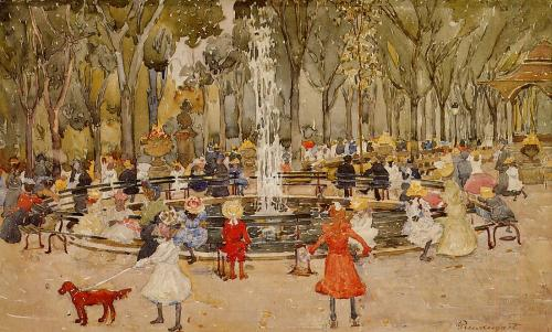 fleurdulys:  In Central Park, New York - Maurice Prendergast ~1901