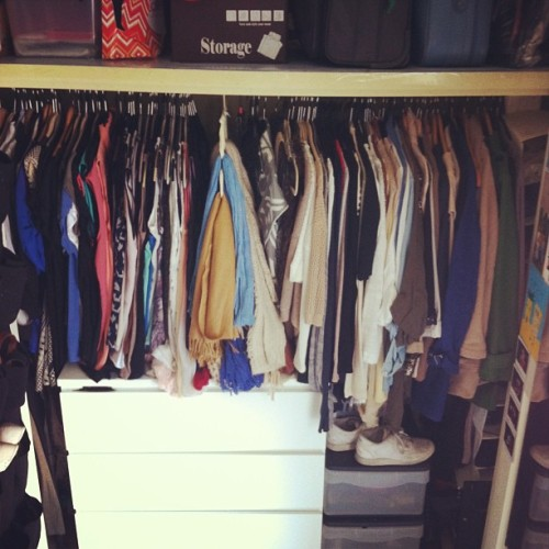 Yay I organised my wardrobe!!!