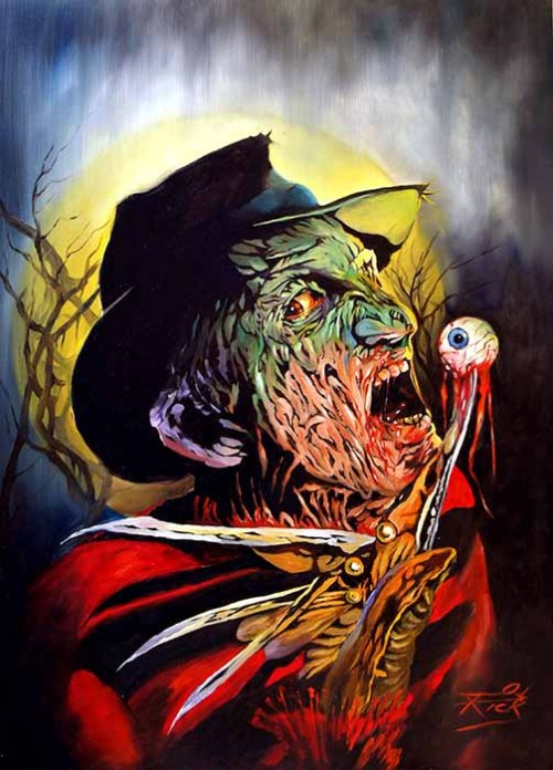 xahhx:  Freddy and Jason art by Rick Melton