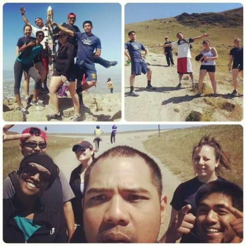 about that fit life #hike #missionpeak #fremont #hills #hot #group #funtimes #sweatin #cardiom#oninstagramstraightflexin @alana_justina