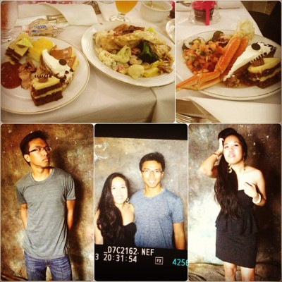 My #bestfriend @nukkasho and I <3 #Eating and so-called #modeling at a #Birthday #Party :) #wewerebored #wearelame 🐨🐯🐳👯 #wemissnattalie