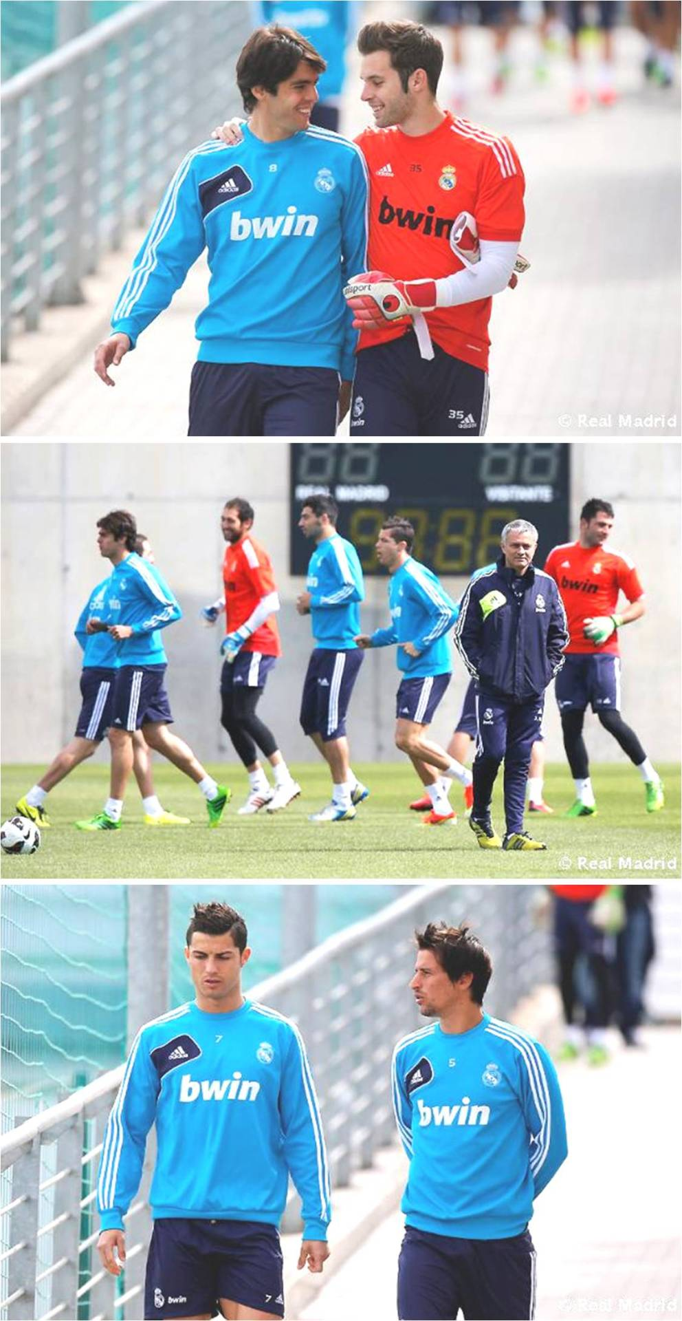 Training 21.05.2013Mou looking lost …
