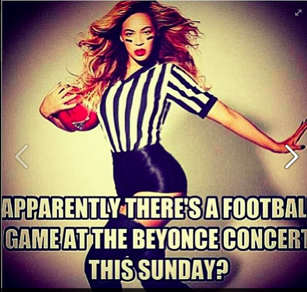 Beyonce - Did u hear theres a football game 2morrow during the Beyonce Concert? RT 2 win $25 Amazon