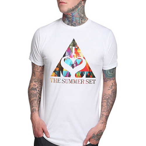 Get our triangle t-shirt now in white available at Hot Topic!