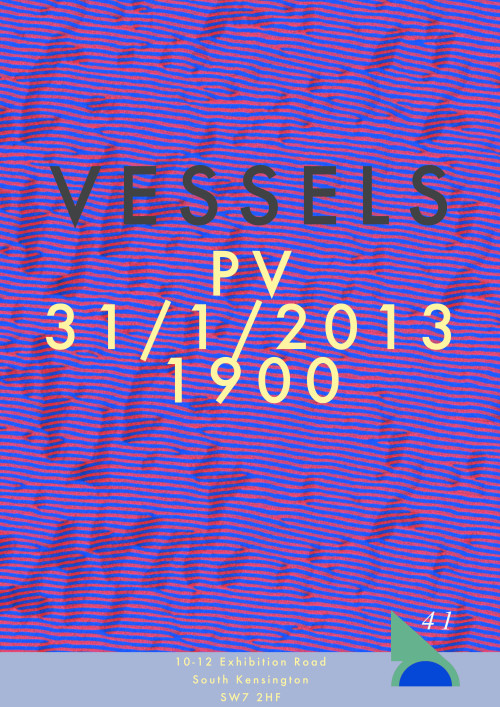 Come along to the opening of the Group 41 Exhibition: 'Vessels' TONIGHT  10-12 Exhibition RoadSouth KensingtonLondon SW7 2HF The group of 41 presents a PRIVATE VIEW of designs and prototypes for an experimental range of vases, flowerpots and other vessels.The exhibition also marks a first exploration of our temporary new underground space on Exhibition Road.Refreshments will be available.From 7 pm. 10-12 Exhibition Road South Kensington SW7 2HF www.iv-i.co.uk info@iv-i.co.uk @groupof41